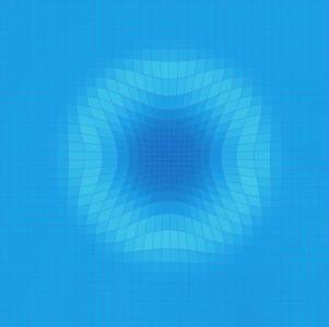 canvas画布绘制网格图像鼠标拖拽实现液体波动效果js网站素材