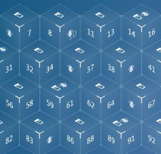 原生js代码与CSS3制作3D立方体数字图像鼠标滑过数字悬浮动画效果