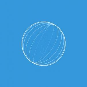 HTML网页3D动画效果CSS3动画属性绘制3D圆形线条旋转动画效果