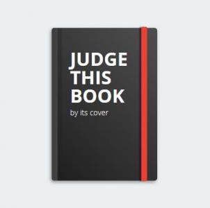 HTML5与CSS3设计制作红色丝带线条的黑色封面书本HTML网站大全