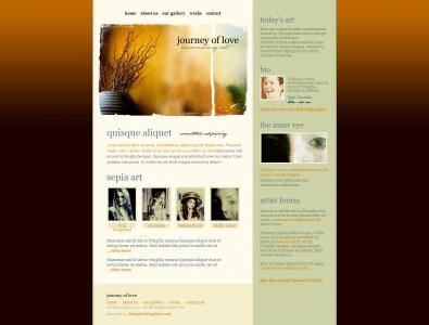个人网页模板设计与制作古典型简约模板网站网页模板下载