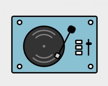 HTML卡通图像动画效果纯CSS代码绘制留声机正在播放动画效果HTML网页播放器代码