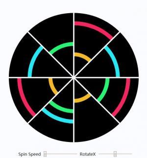 CSS3属性绘制扇形圆js代码通过拖动滑块按钮实现设置扇形圆旋转速度效果