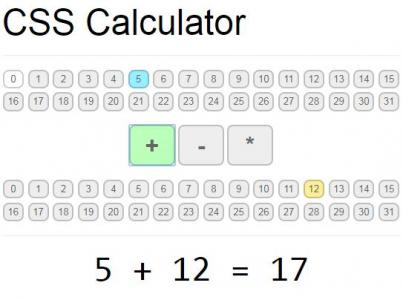 纯CSS3属性样式制作超级简单的计算器HTML网页计算器代码下载