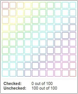 HTML网页调色面板设计大全CSS3样式制作带渐变色彩的小方块鼠标点击方块背景色填充效果