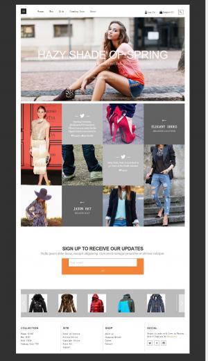 九宫格大气服装展示商城模板网站
