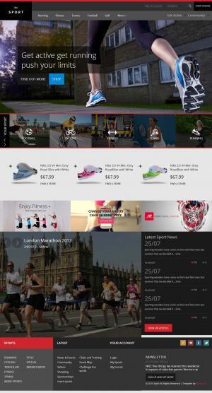 宽屏运动鞋模板网站免费模板网站