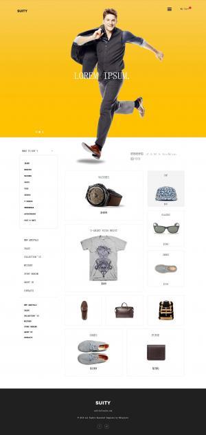 国外大气简约服装商城网站模板