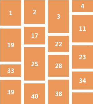 网页瀑布流排版布局代码HTML5和CSS网格布局制作网页静态页面