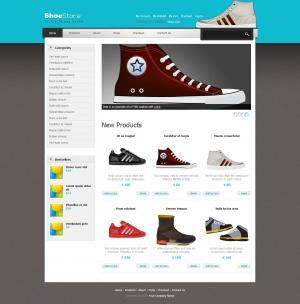 个性模板鞋子商城网站静态页面