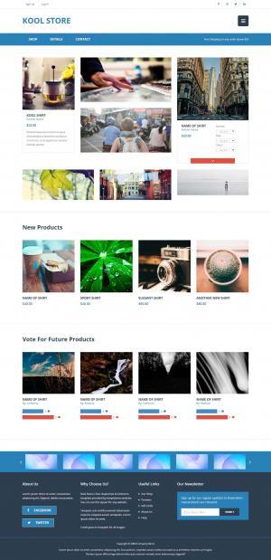 大气简洁国外商城产品展示网站模板免费下载