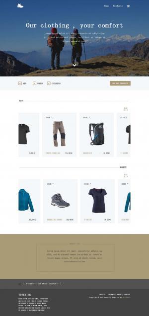 运动服装商城网站静态页面模板素材