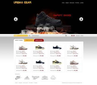 鞋子专卖店商城网站模板静态模板网站