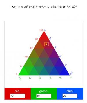 JavaScript和CSS制作三角形网格效果的拾色器面板HTML网页拾色器调色面板下载