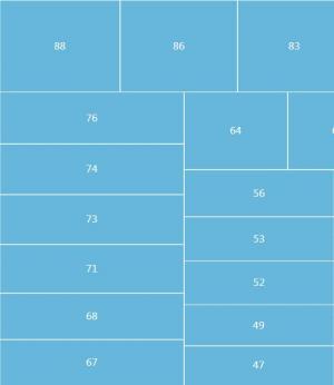 HTML网站网格布局样式代码鼠标经过数字单元格显示带提示信息效果