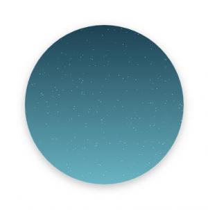 CSS圆角属性样式和网页js特效代码绘制夜间星星闪烁图像动画效果