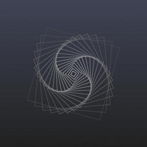 纯CSS选择器属性样式绘制曲线旋转的正方形图像动画效果