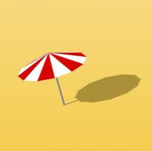 HTML5和CSS样式绘制带影子的卡通雨伞图像旋转动画效果