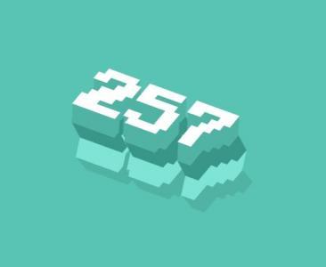 纯CSS3样式表文字属性代码绘制带阴影效果的3D数字图像