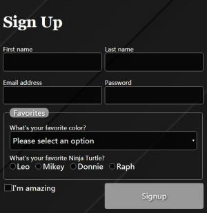 HTML5网站用户表单登录设计代码制作黑色风格的用户登录表单