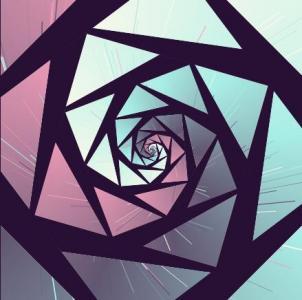CSS样式旋转属性样式绘制渐变背景涡旋状图形图像样式效果