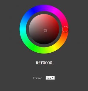 js拾色器代码和HTML颜色代码制作环形状调色板拾色器