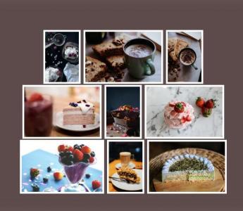 js网页图片特效和HTML代码布局制作相册墙图片展示效果