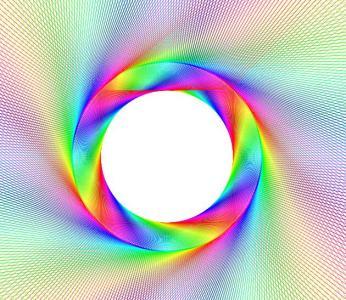 canvas和HTML5特效代码绘制超级炫酷的七彩渐变背景图案动画效果