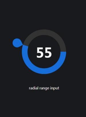 js代码和CSS圆角属性制作可拖拽滑块的百分比圆环进度条